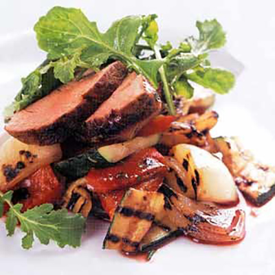 Pork tenderloin with mixed vegetables