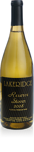 Silhouette of a bottle of Lakeridge Winery Stover white wine.